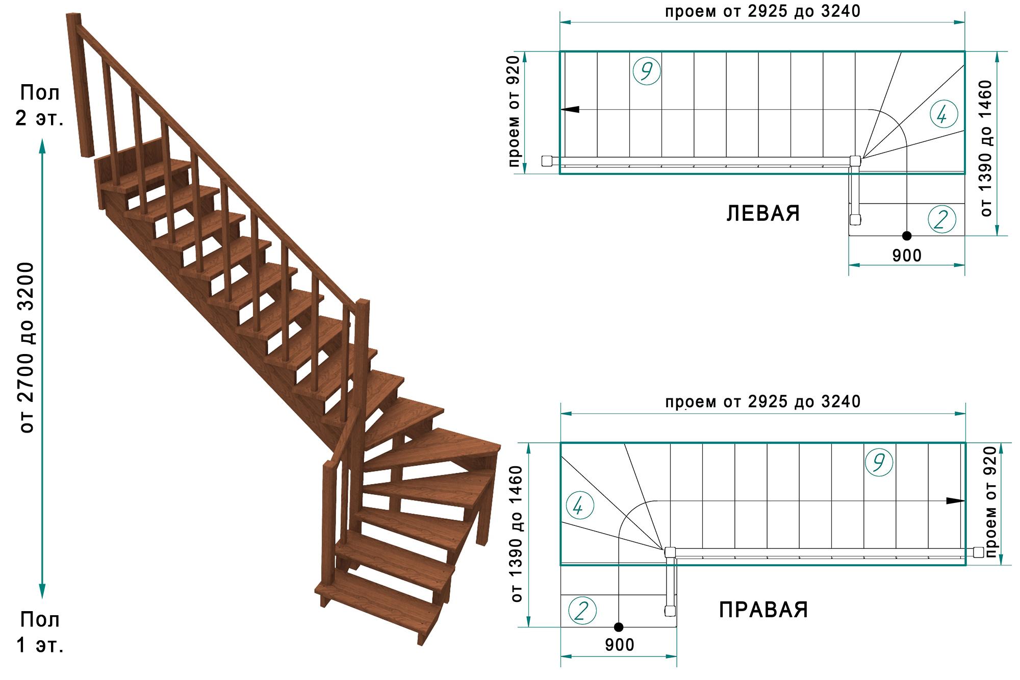Забежная лестница своими руками - от расчетов до монтажа 76