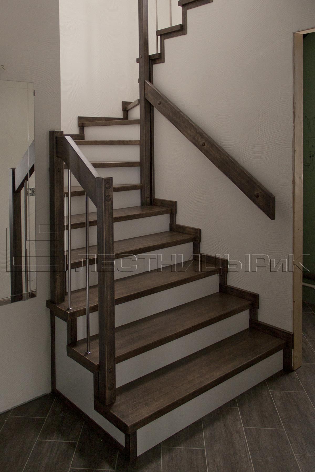 Березовая лестница на заказ в Екатеринбурге